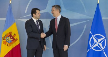 NATO Secretary General Jens Stoltenberg meets with the Prime Minister of the Republic of Moldova, Chiril Gaburici