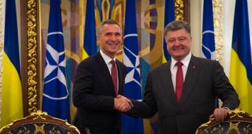 NATO Secretary General Jens Stoltenberg and the President of Ukraine, Petro Poroshenko