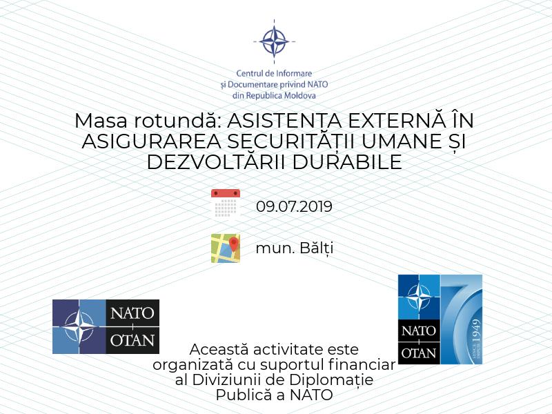Mese rotunde la Bălți și Cahul: Asistența externă în asigurarea securității umane și dezvoltării durabile