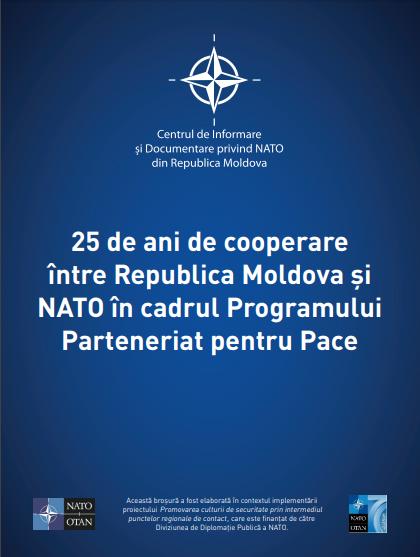 Broșura 25 de ani de cooperare în cadrul Programului PpP al NATO.