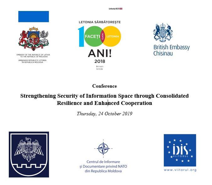 """Anunț! Conferință internațională """"Întărirea securității spațiului informațional prin consolidarea rezilienței și dezvoltarea cooperării"""""""