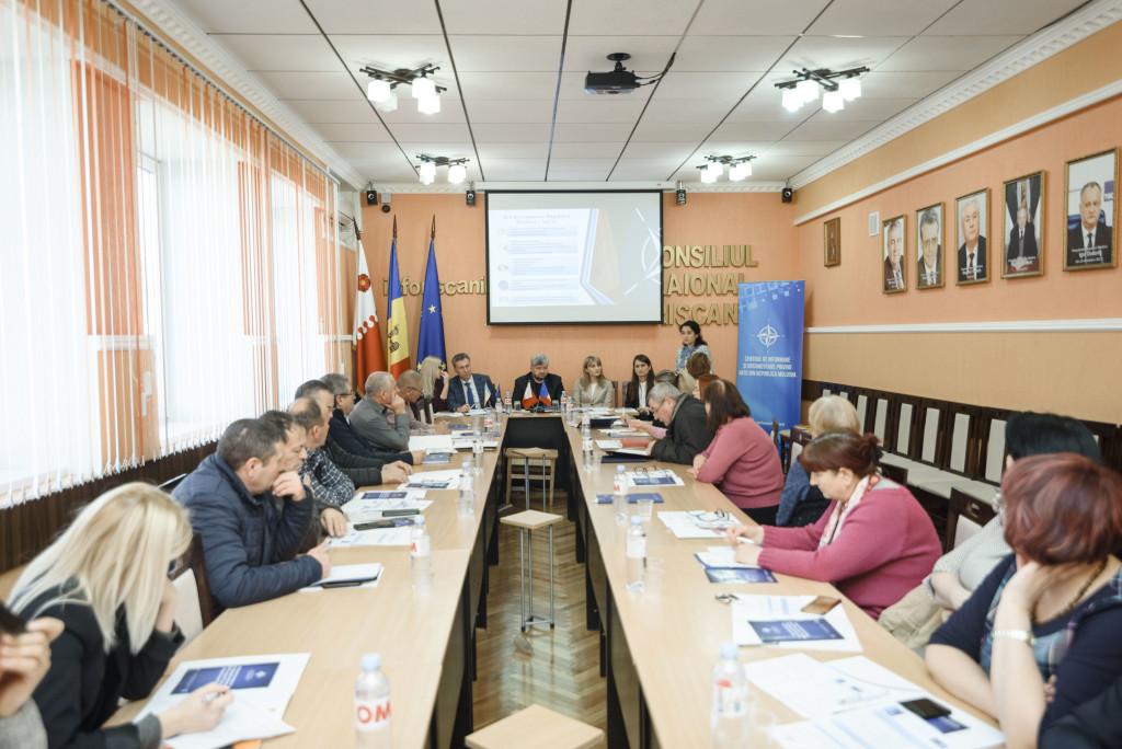 Masa rotundă 25 DE ANI DE COOPERARE ÎNTRE REPUBLICA MOLDOVA ȘI NATO ÎN CADRUL PROGRAMULUI PARTENERIAT PENTRU PACE organizată la Rîșcani