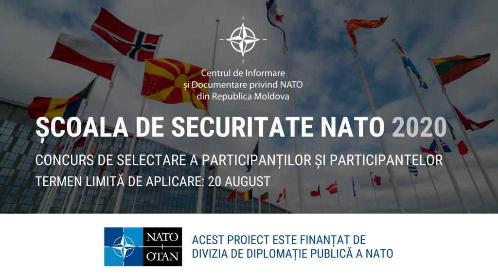 CID NATO lansează un concurs de selectare a participanților și participantelor pentru Școala de Securitate NATO, ediția 2020