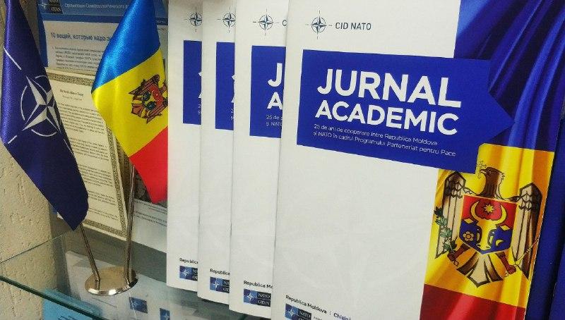 """Jurnalul academic """"25 DE ANI DE COOPERARE ÎNTRE REPUBLICA MOLDOVA ȘI NATO ÎN CADRUL PROGRAMULUI PARTENERIAT PENTRU PACE"""""""