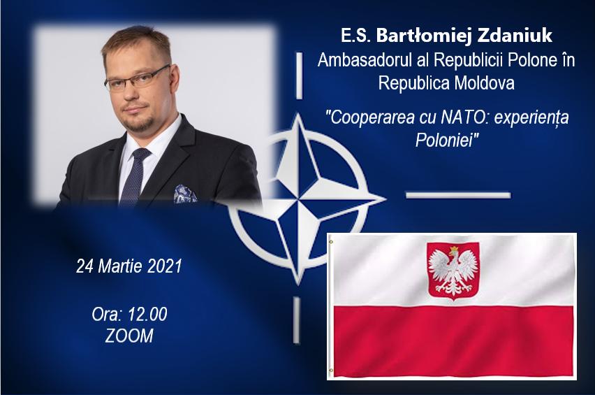 """Lecție publică: """"Cooperarea cu NATO: experiența Poloniei"""" cu studenții USEM"""