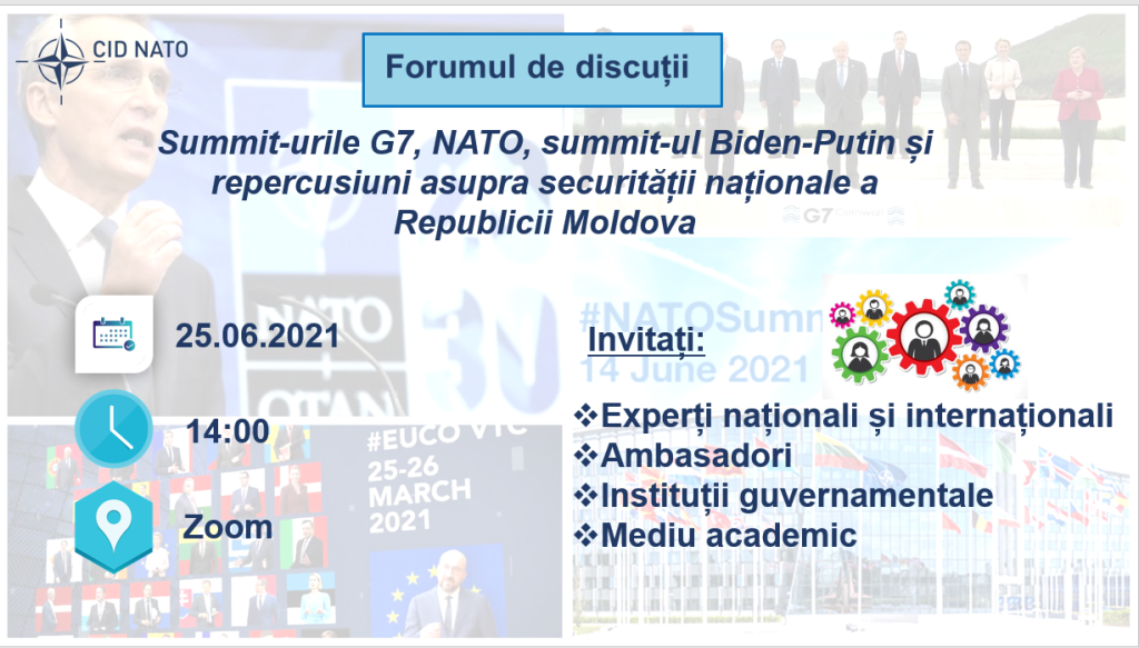 Summary of Discussion forum: 7 Summits, NATO, Biden-Putin Summit and repercussions on the national security of the Republic of Moldova
